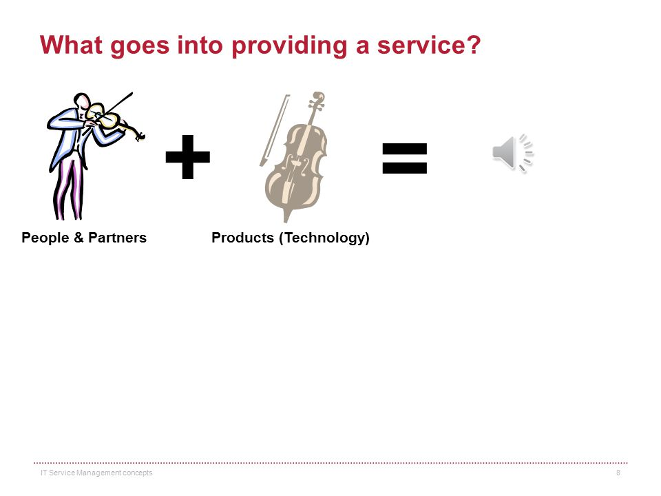 What are services? Services are a means of delivering value to customers by facilitating outcomes customers want to achieve without taking on the owne
