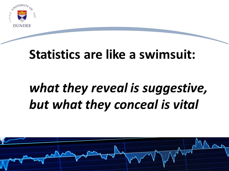 Statistics are like a swimsuit: what they reveal is suggestive, but what they conceal is vital