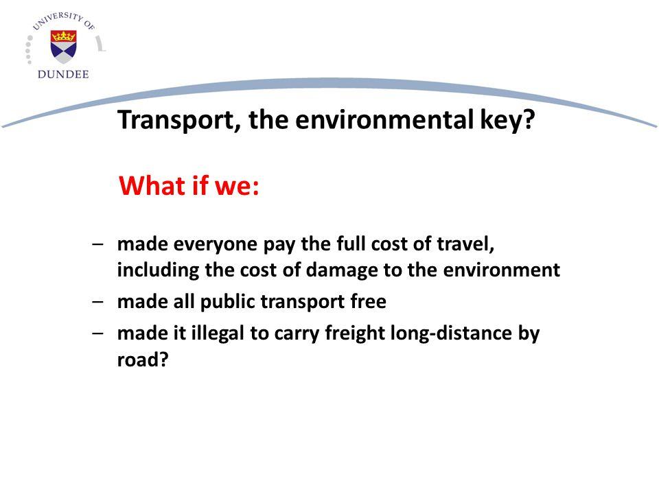 Transport, the environmental key.