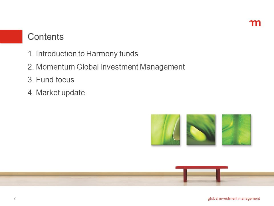 3 global investment management 1. Introduction to Harmony funds
