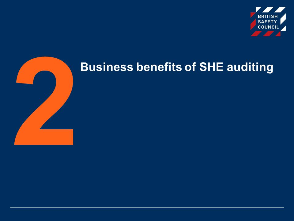 Business benefits of SHE auditing 2