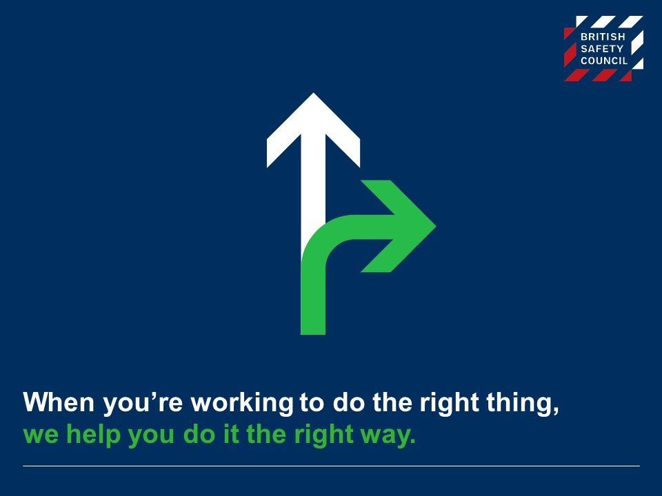 Document title When you're working to do the right thing, we help you do it the right way.