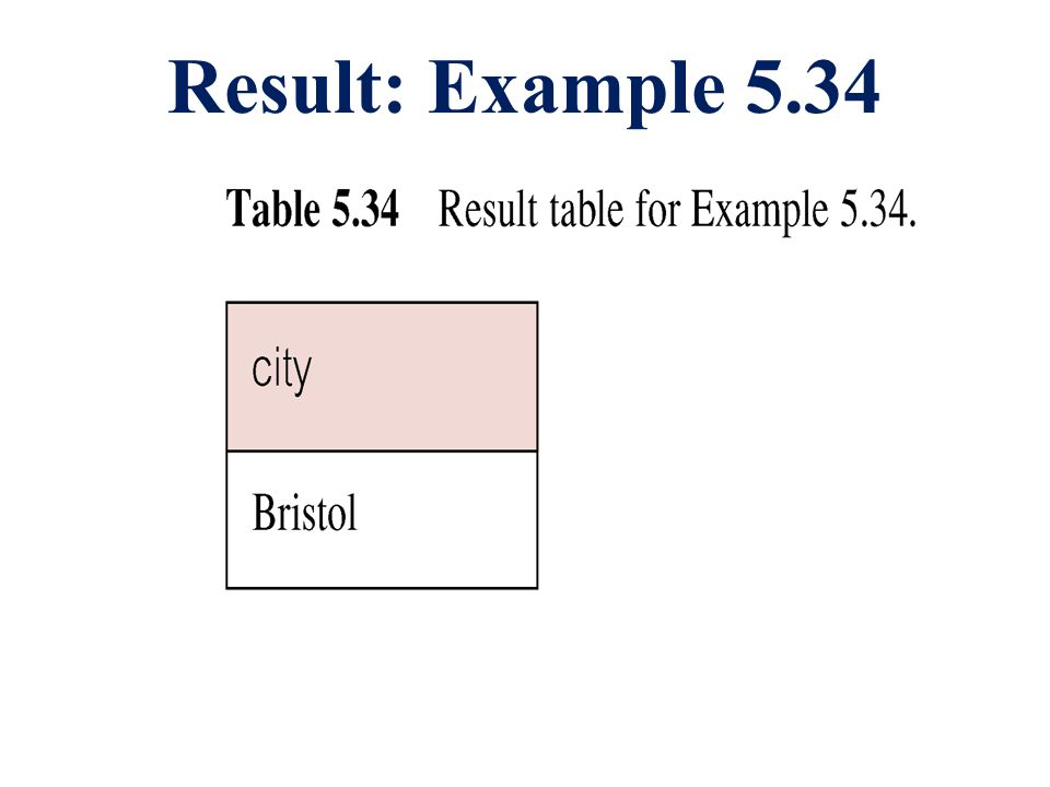 Result: Example 5.34