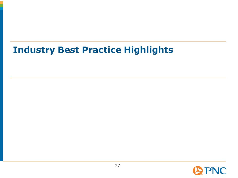 Industry Best Practice Highlights 27