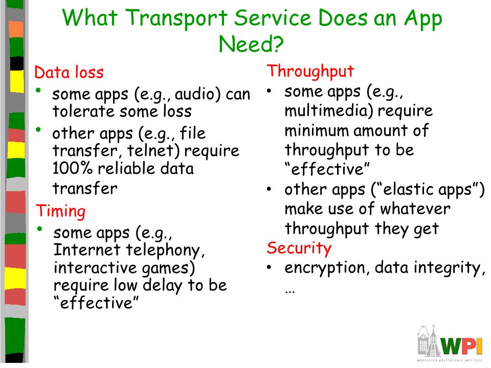 What Transport Service Does an App Need.