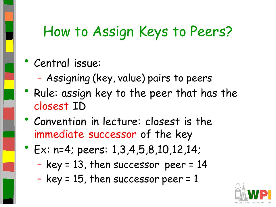 How to Assign Keys to Peers.