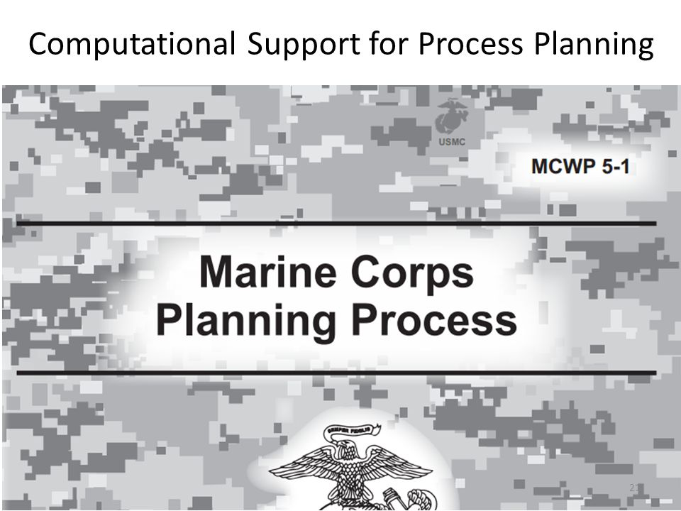 Computational Support for Process Planning 21
