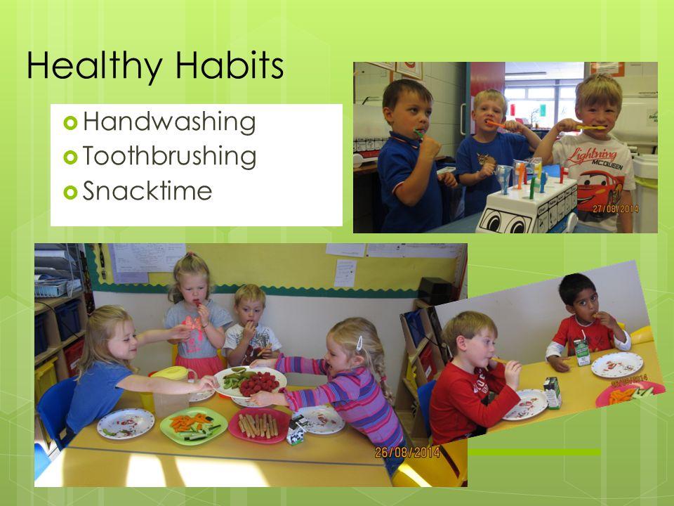  Handwashing  Toothbrushing  Snacktime Healthy Habits