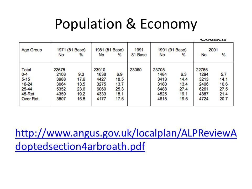 Population & Economy http://www.angus.gov.uk/localplan/ALPReviewA doptedsection4arbroath.pdf