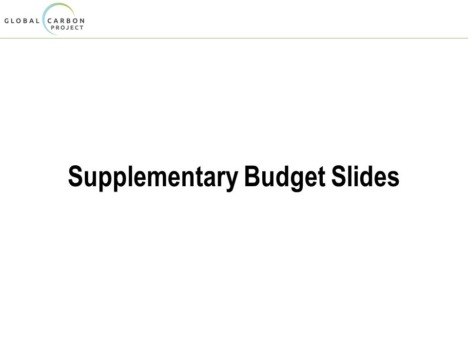 Supplementary Budget Slides