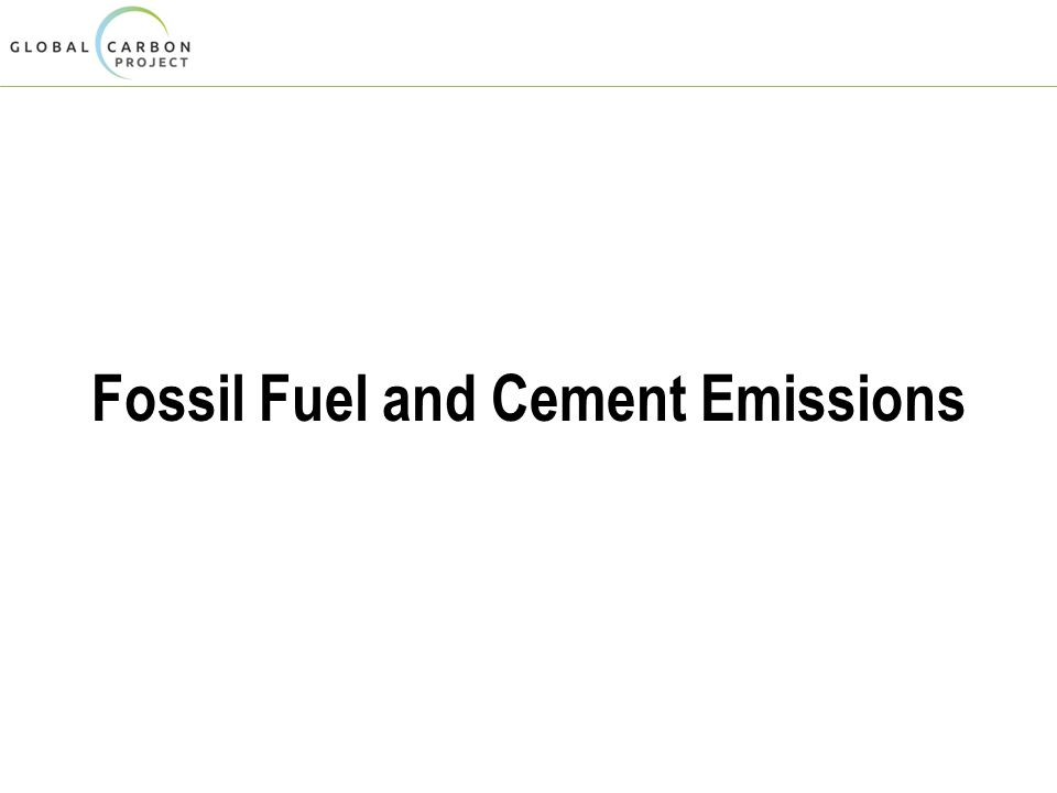 Fossil Fuel and Cement Emissions