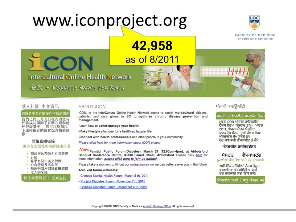www.iconproject.org 42,958 as of 8/2011