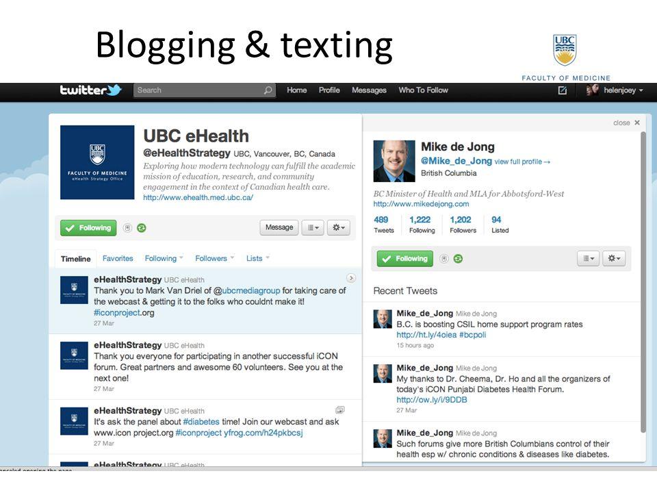 Blogging & texting
