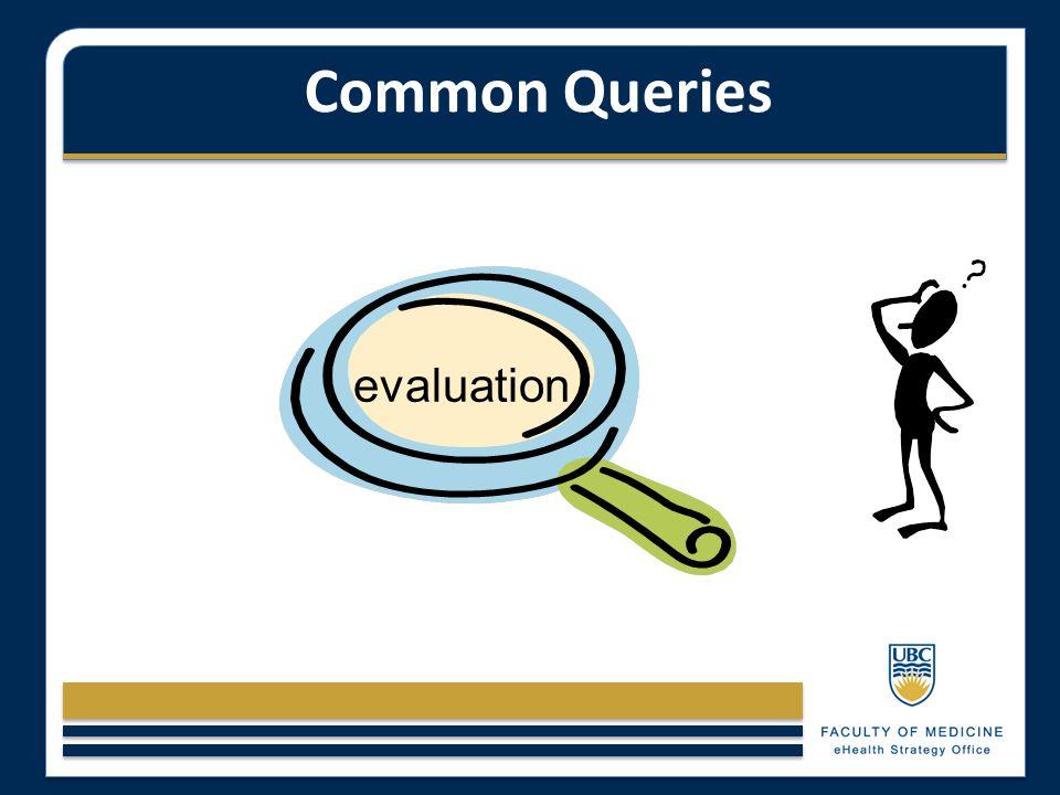 Common Queries evaluation