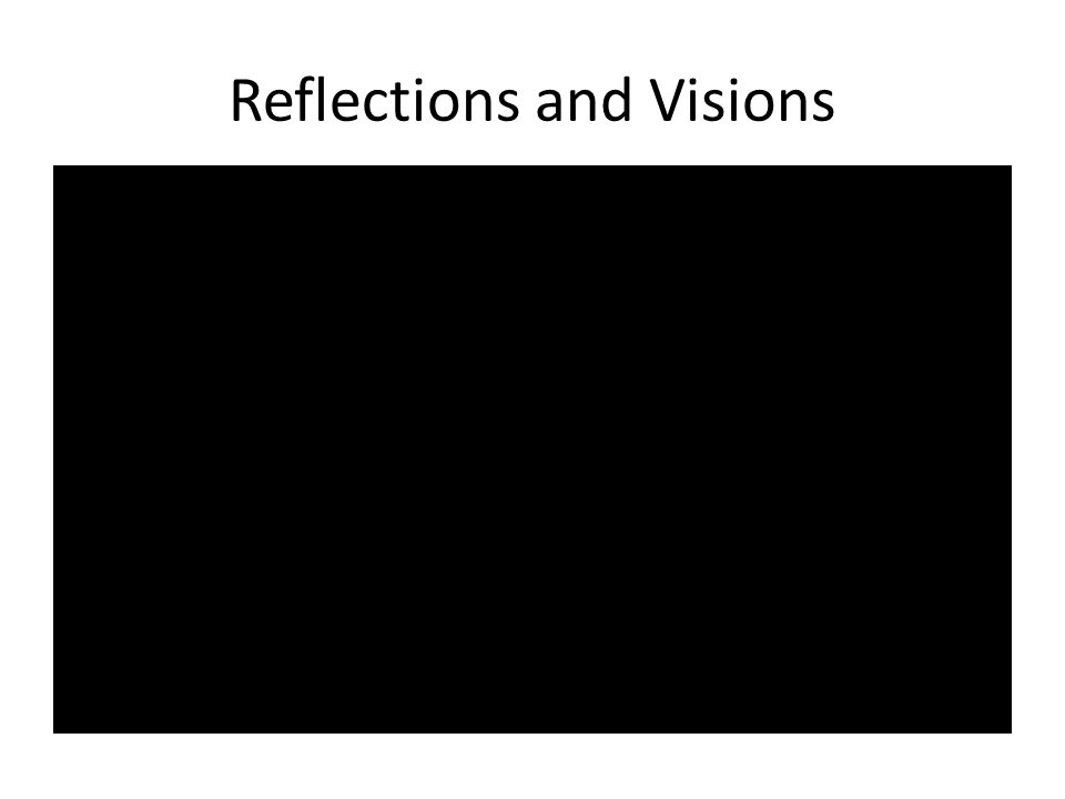 Reflections and Visions