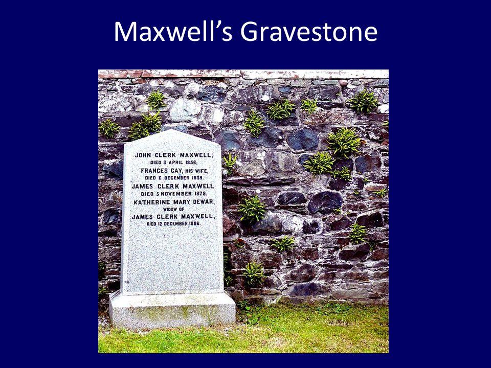 Maxwell's Gravestone