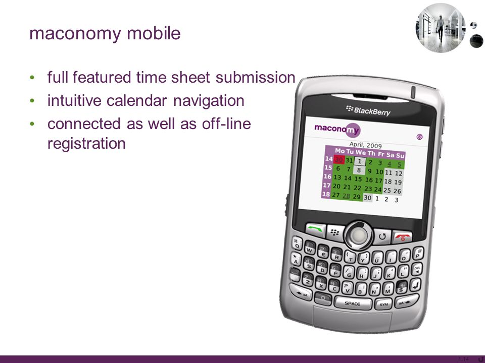 maconomy mobile full featured time sheet submission intuitive calendar navigation connected as well as off-line registration 1.14