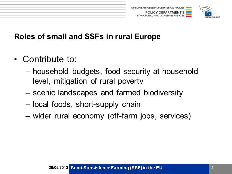 Current EU Policy CAP Pillar 1: –minimum payment rates often above standard €100 (e.g.