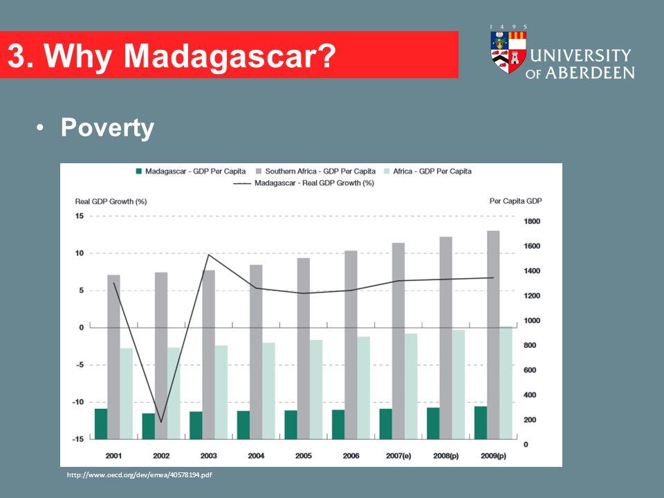 3. Why Madagascar? Poverty http://www.oecd.org/dev/emea/40578194.pdf