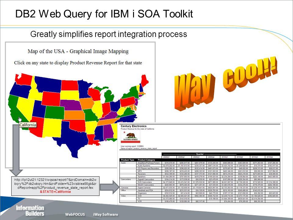 DB2 Web Query for IBM i SOA Toolkit 19 http://lp12ut21:12321/wqsoa/report/?&zrdDomain=db2w bqry%2Fdb2wbqry.htm&zrdFolder=%23visiblea56gb&zr dReport=ap