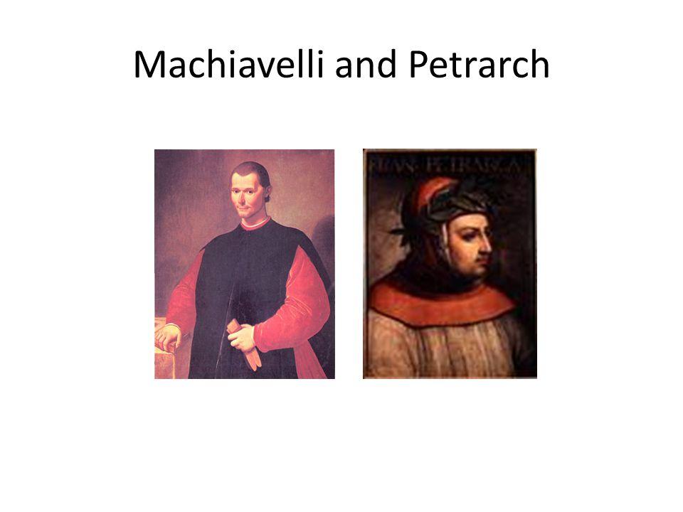 Machiavelli and Petrarch