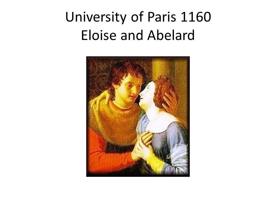 University of Paris 1160 Eloise and Abelard