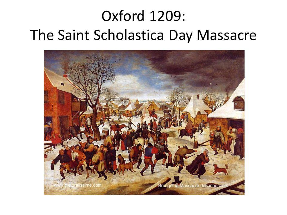 Oxford 1209: The Saint Scholastica Day Massacre
