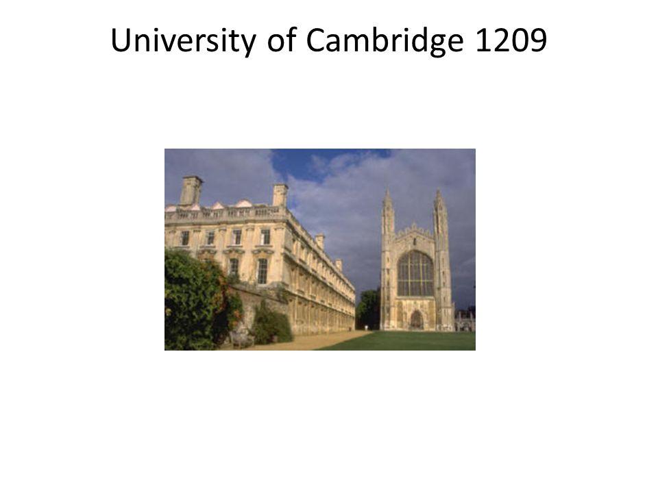 University of Cambridge 1209