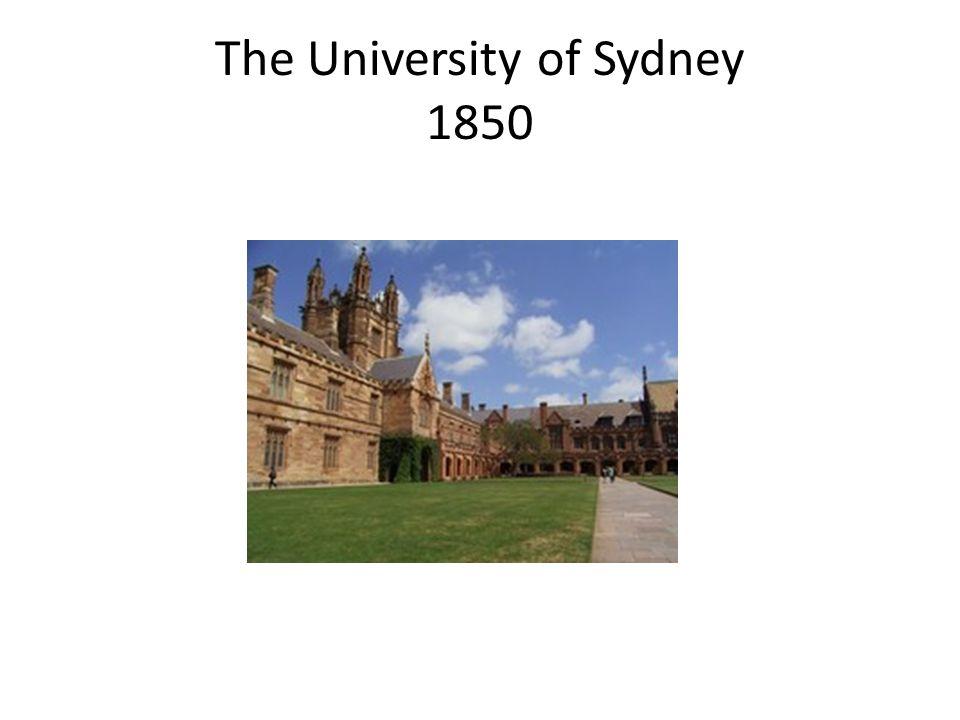 The University of Sydney 1850