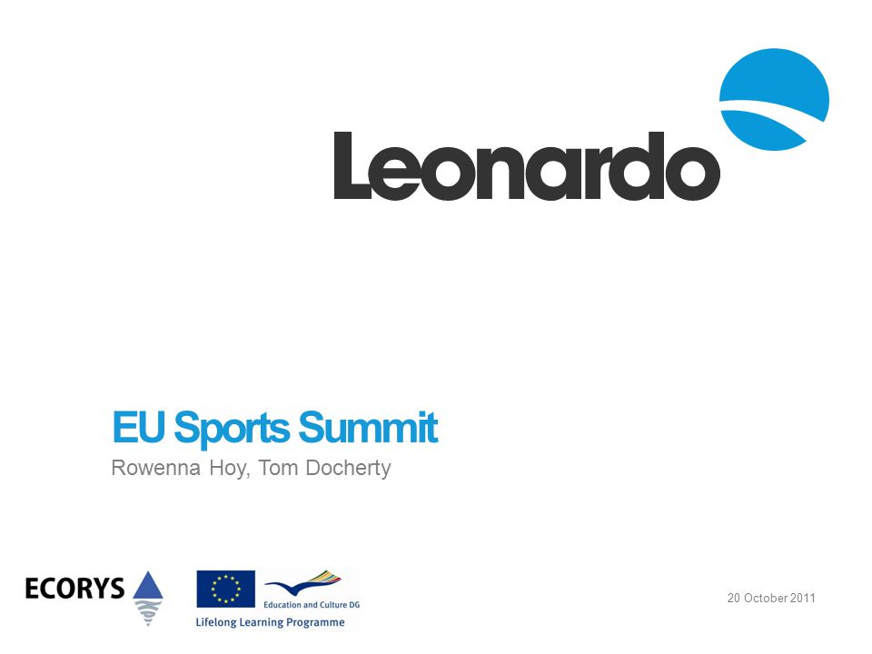 EU Sports Summit Rowenna Hoy, Tom Docherty 20 October 2011
