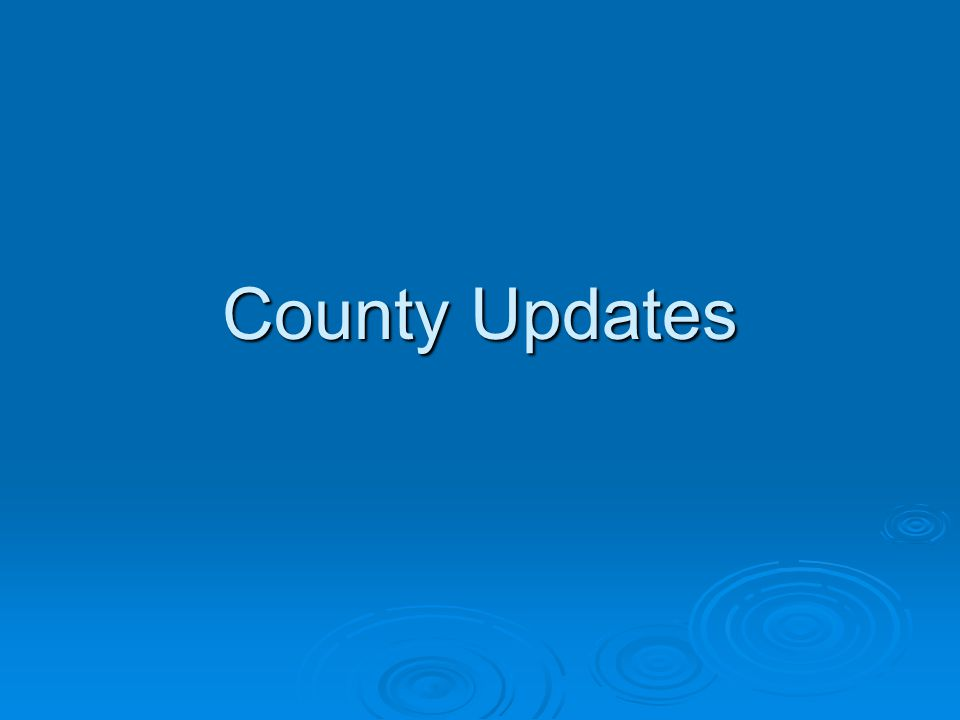 County Updates