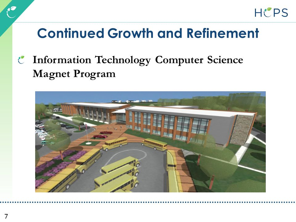7 Continued Growth and Refinement Information Technology Computer Science Magnet Program