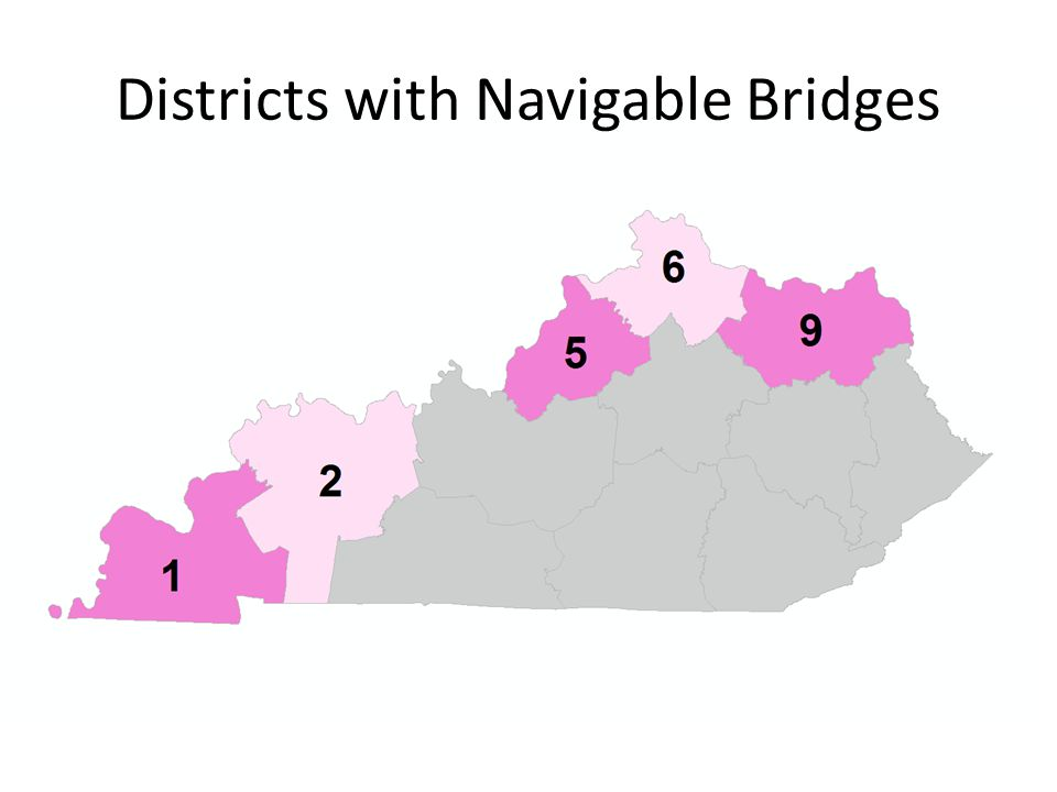 Districts with Navigable Bridges