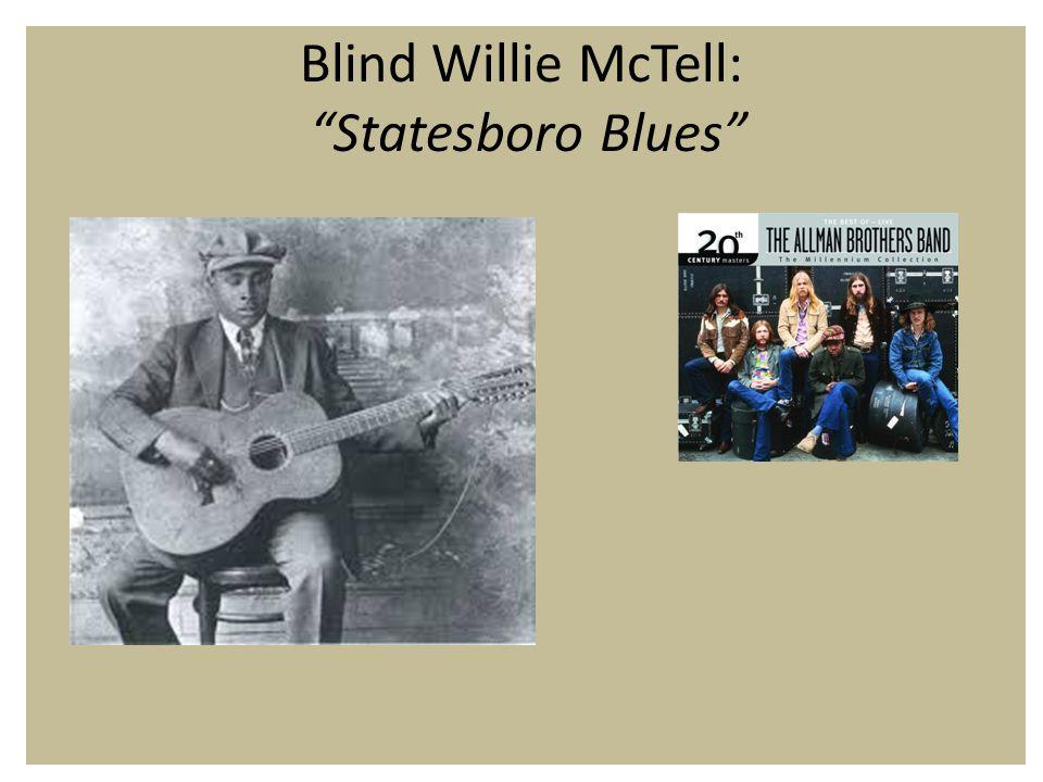 Blind Willie McTell: Statesboro Blues