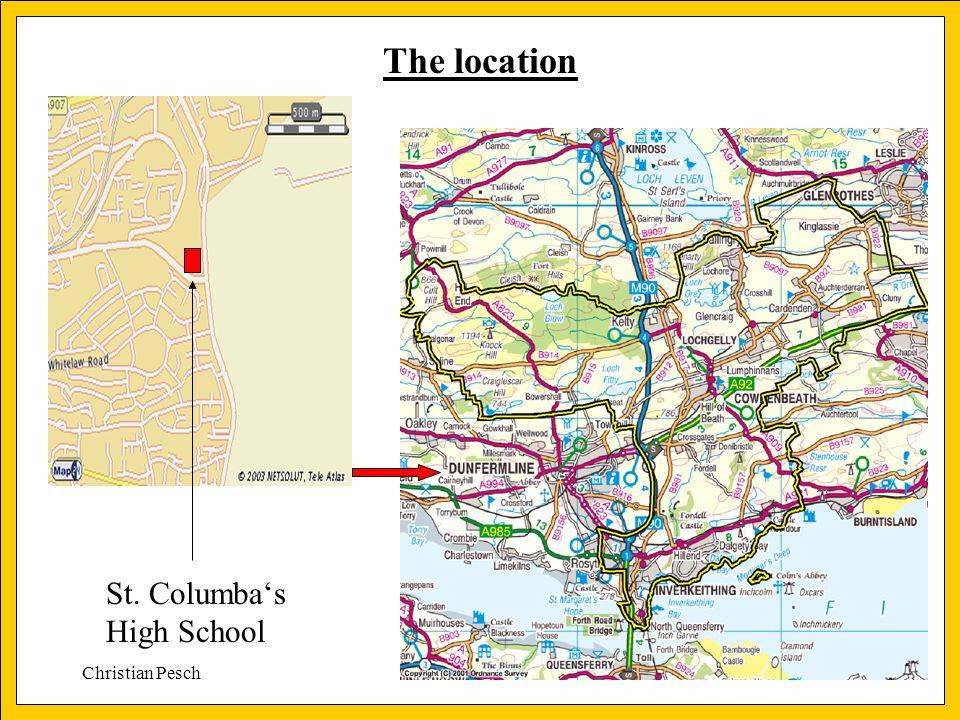 Christian Pesch The location St. Columba's High School