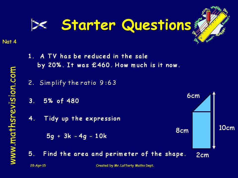 28-Apr-15Created by Mr.Lafferty Maths Dept.