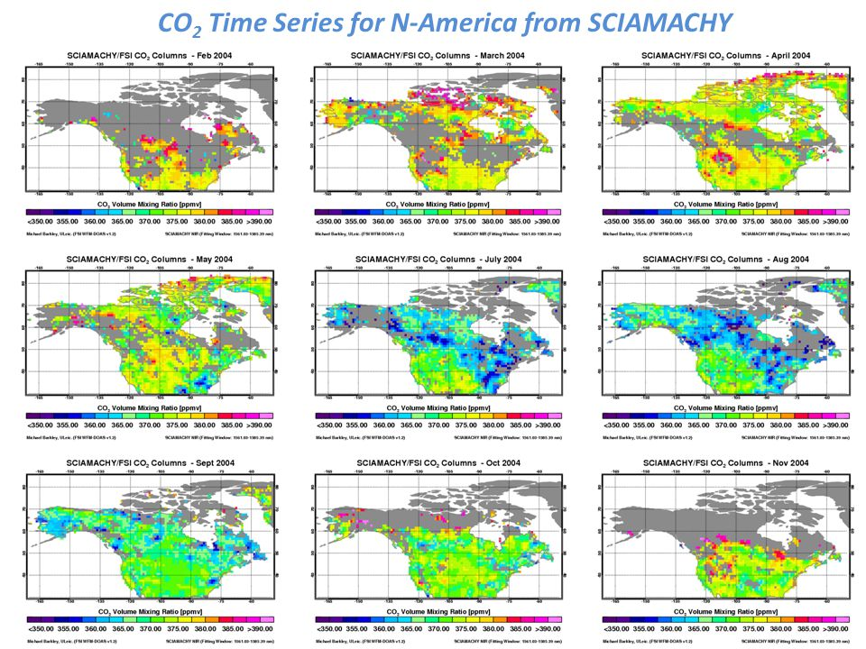 Carbon Fusion Oct07 CO 2 Time Series for N-America from SCIAMACHY