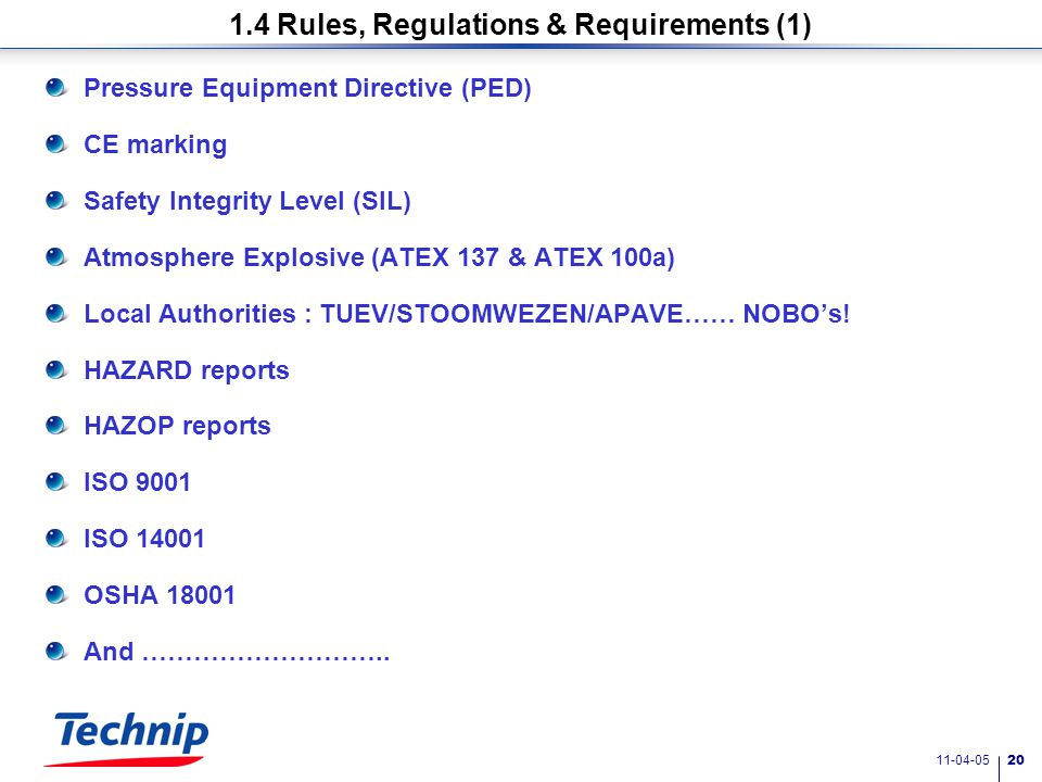 11-04-05 19 1.4 Rules and regulations 1. Challenges