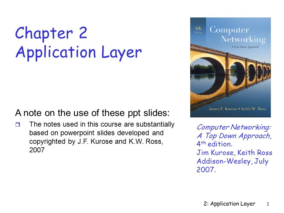 2: Application Layer12 Sockets r Process sends/receives messages to/from its socket r Socket analogous to door  Sending process shoves message out door  Sending process relies on transport infrastructure on other side of door which brings message to socket at receiving process Internet controlled by OS controlled by app developer r API: (1) choice of transport protocol; (2) ability to fix a few parameters (lots more on this later) process TCP with buffers, variables socket host or server process TCP with buffers, variables socket host or server