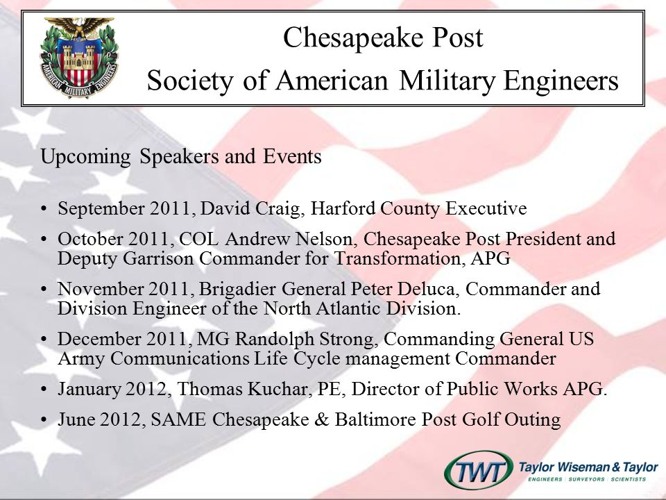 For more information Chesapeake Post Website www.same-chesapeake.org Thank you .