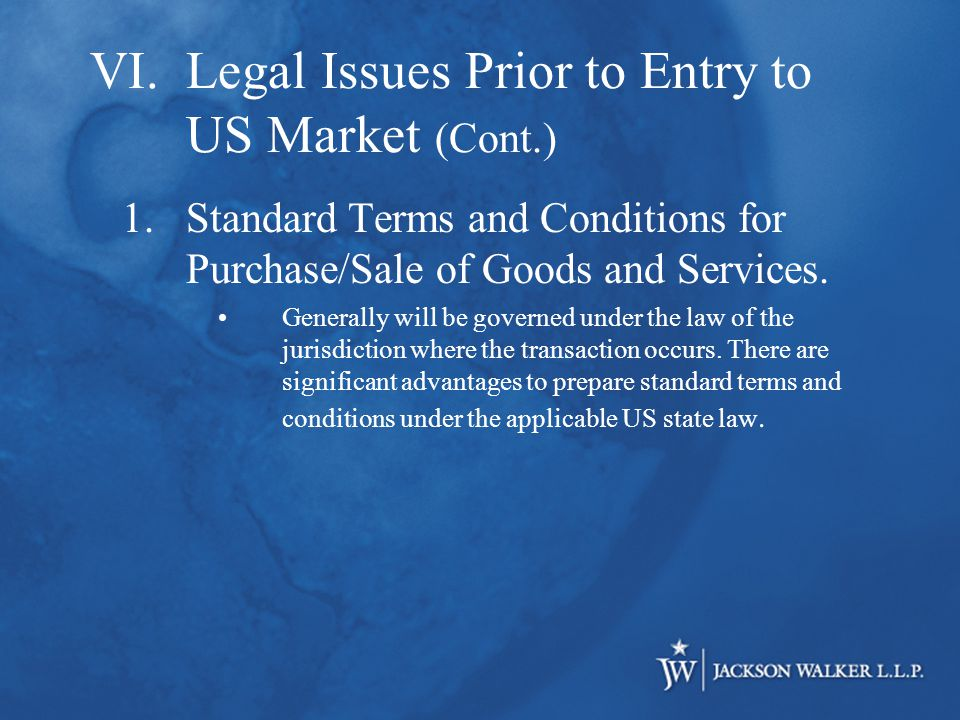 1.Standard Terms and Conditions for Purchase/Sale of Goods and Services.