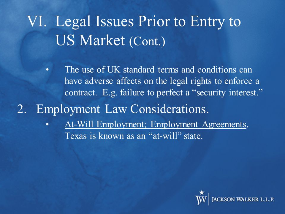 The use of UK standard terms and conditions can have adverse affects on the legal rights to enforce a contract.