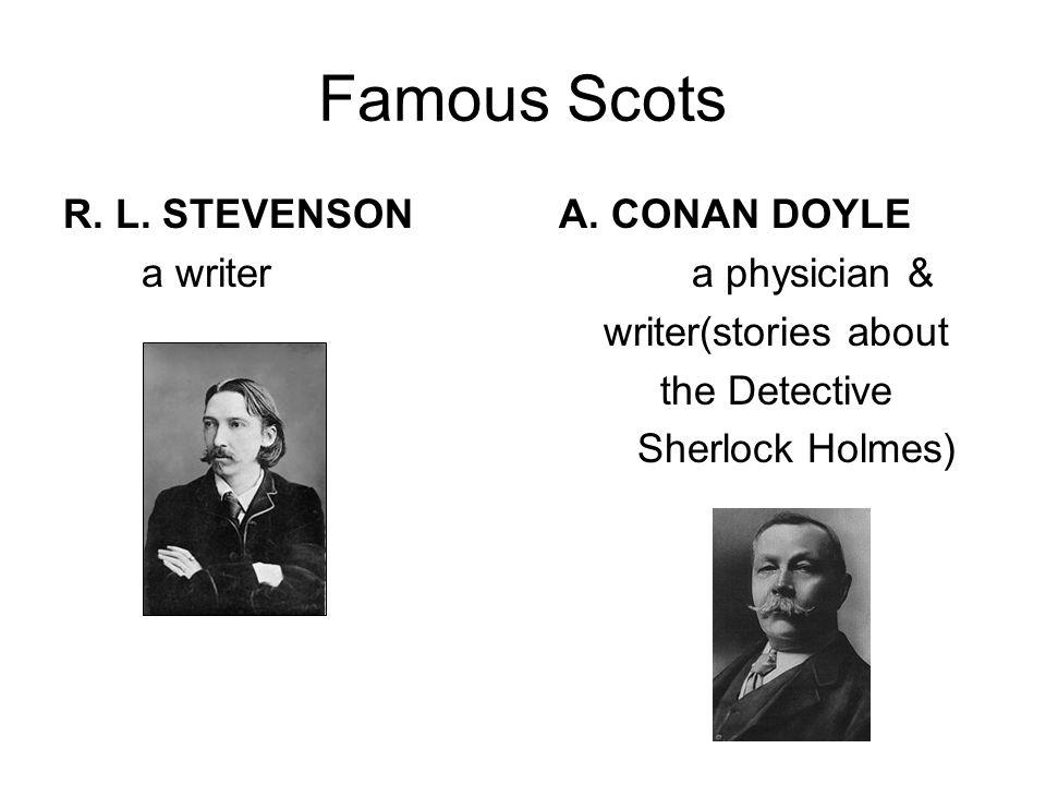 Famous Scots ROBERT BURNS WALTER SCOTT a poet a poet