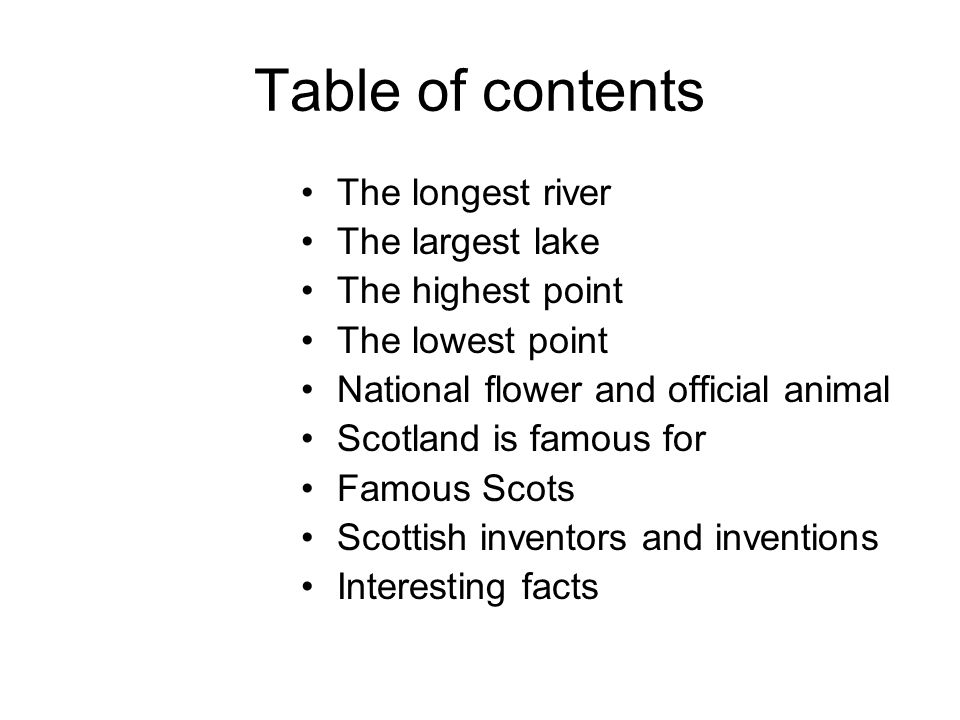 Table of contents Where is Scotland.