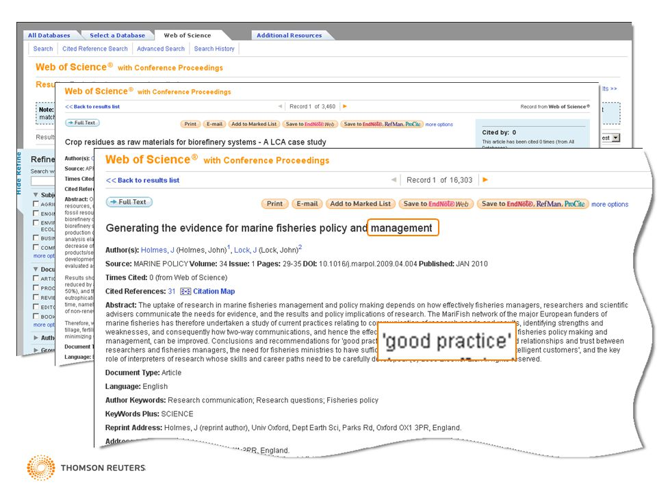 Lemmatization search results