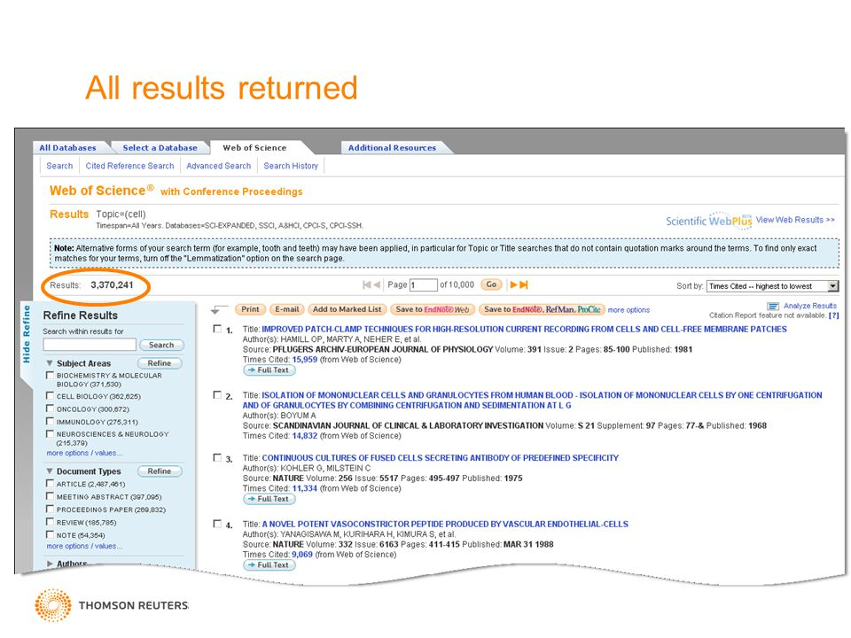All results returned