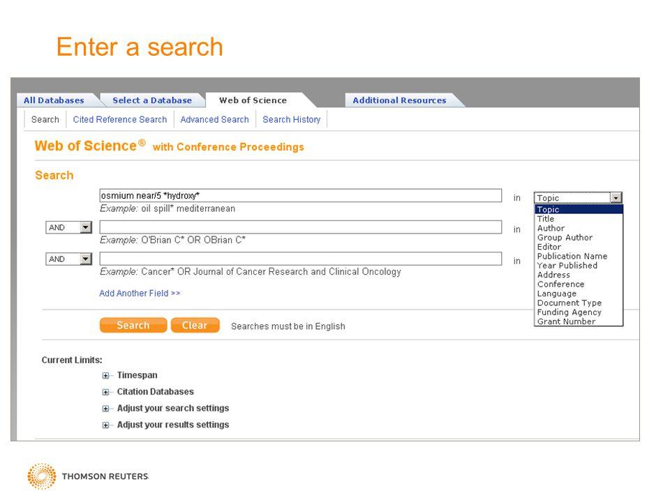 Enter a search