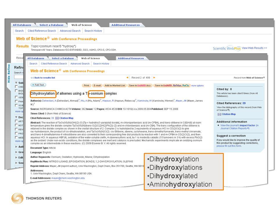 Search results Dihydroxylation Dihydroxylations Dihydroxylated Aminohydroxylation