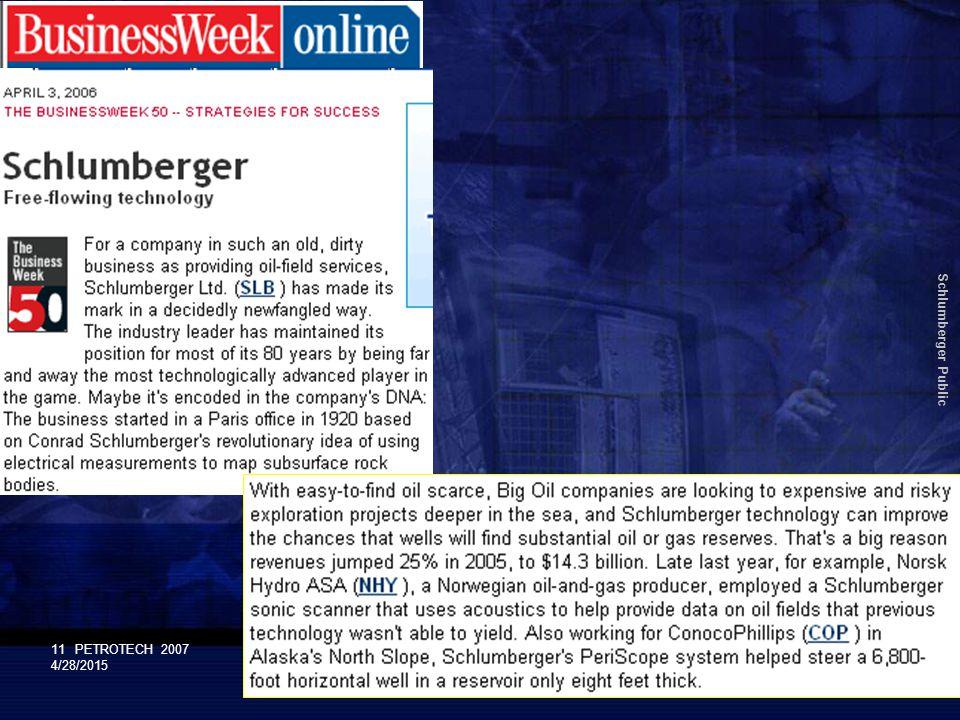 Schlumberger Public 11PETROTECH 2007 4/28/2015