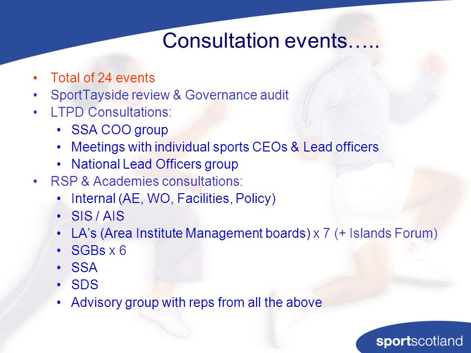 Consultation events…..